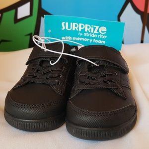 Stride Rite Black UNIFORM Sneakers Toddler Size 7